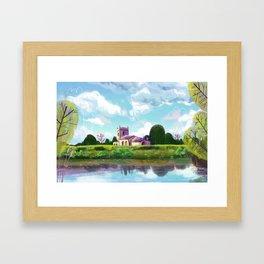 English church Framed Art Print