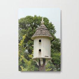 Fancy Bird House Metal Print