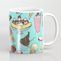 dessert Mugs featuring Dessert Explosion! by TinyBee