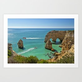 Marinha arches, Portugal Art Print