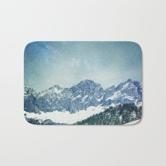 Snow Mountain V3 #society6 #buyart #decor Bath Mat