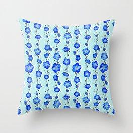 Baby Blue Wildflower Throw Pillow