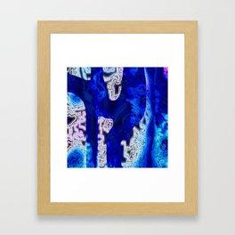 Blue Discontinuity Framed Art Print