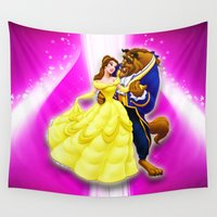 beauty and the beast Wall Tapestries featuring BEAUTY AND THE BEAST by September 9