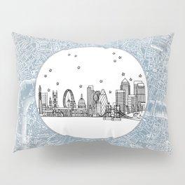 London, England (United Kingdom), Europe City Skyline Illustration Drawing Pillow Sham