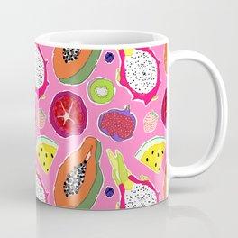 Seedy Fruits in Hot Neon Pink Coffee Mug