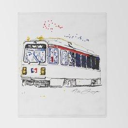 Septa Trolley Art: Philly Public Transportation Throw Blanket