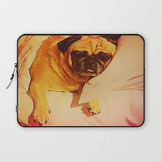 PUG LOVE: Will you bring me breakfast in bed? Laptop Sleeve