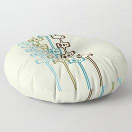 Mid Century Modern Daddy-O (teal) Floor Pillow