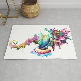 Seahorse , multi colored sea world animal art, design, cute animal art beach Rug