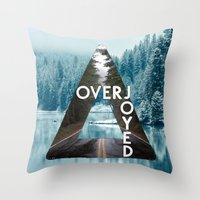 bastille Throw Pillows featuring Bastille - Overjoyed by Thafrayer