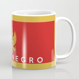 Montenegro country flag name text Coffee Mug