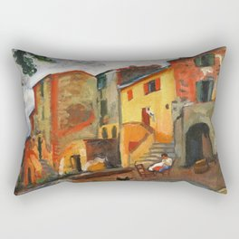 Charles Camoin - Village Street, Collioure Rectangular Pillow