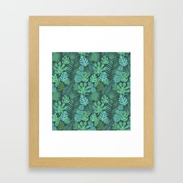 Tropical plantation Framed Art Print