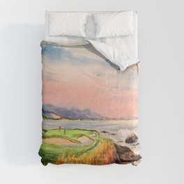 Pebble Beach Golf Course Hole 7 Comforters