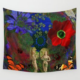 Adam and Eve's Harmonious Earth Wall Tapestry