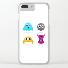 Valentines gift edition : Creatures Clear iPhone Case