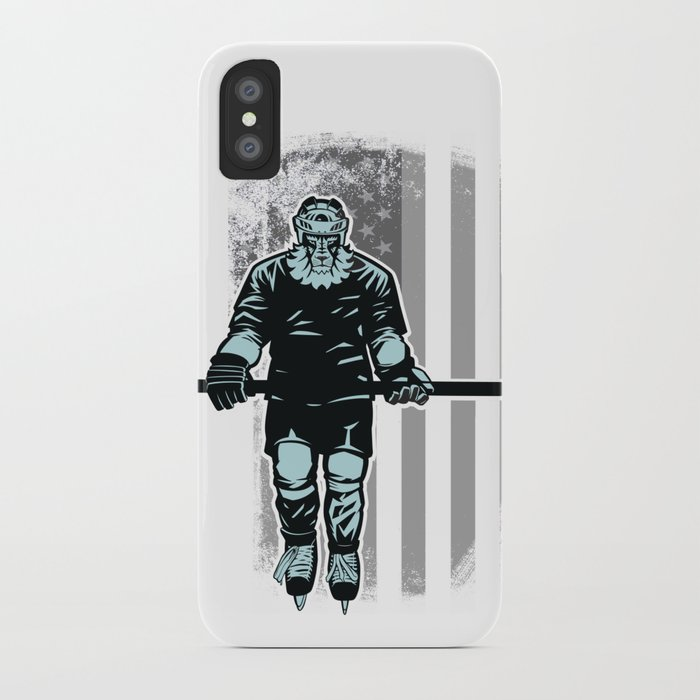new product a49f8 c8d51 American Lion Hockey Player iPhone Case