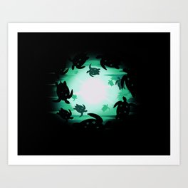 Dancing Turtles Art Print