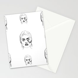 strange ooze Stationery Cards