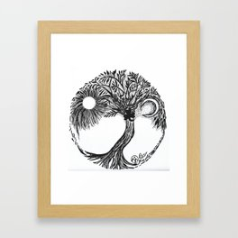 """Tree of Go Braugh"" Hand-Drawn by Dark Mountain Arts Framed Art Print"