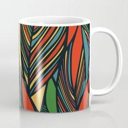 Tropical color leaves pattern Coffee Mug