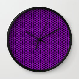 Purple Star Lattice Wall Clock