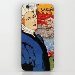 German artisanal art expo Dresden 1896 iPhone Skin