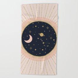 Love in Space Beach Towel