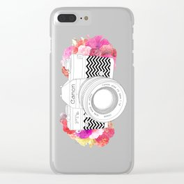 BLOOMING CAN0N Clear iPhone Case