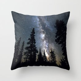 Sentinels of the Milky Way Throw Pillow
