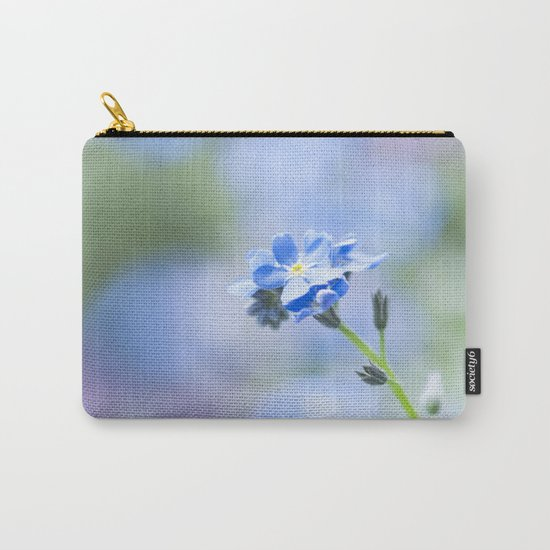 Forget-me-not in LOVE - Springflower Flowers Floral on #Society6 Carry-All Pouch