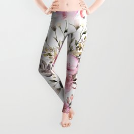 Roses Orchids and Wild Flowers Leggings