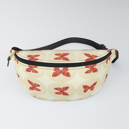 Red butterflies Fanny Pack