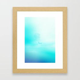 Llama. Creatures in the mist. Framed Art Print