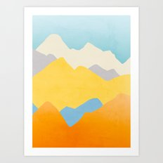 Happy Mountains Art Print