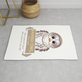 Cry of the Barred Owl Rug