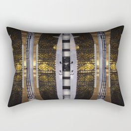 number 145 black and white a gold pattern Rectangular Pillow