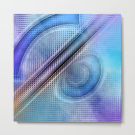 Abstract pattern blue and purple Metal Print