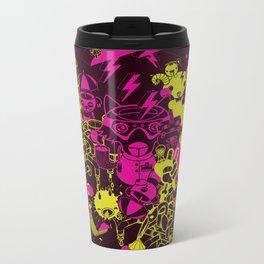 Dream Factory Pink and Yellow Metal Travel Mug