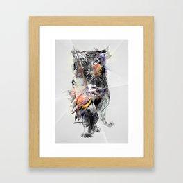 Tiger Triangle Framed Art Print