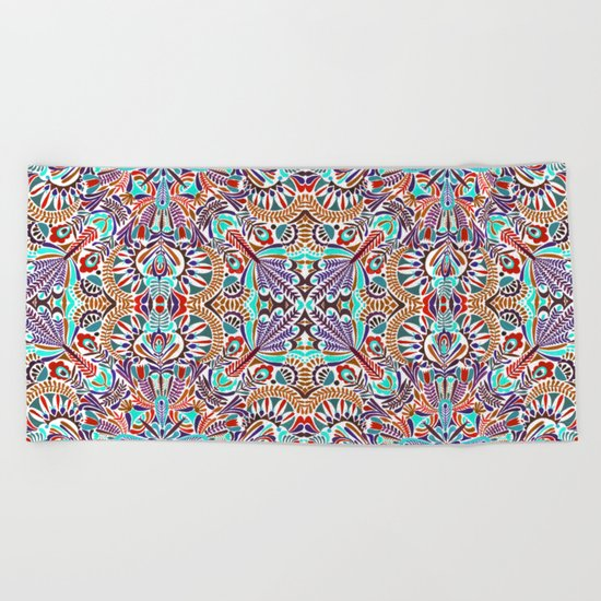 Flower explosion Beach Towel