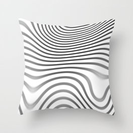 Organic Abstract 02 WHITE Throw Pillow