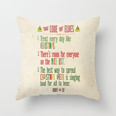 Buddy the Elf! The Code of Elves Throw Pillow