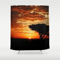 dragon Shower Curtains featuring Firey Dragon  by Chris' Landscape Images & Designs