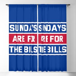 Sundays Are for the bills Blackout Curtain