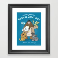 Hagrid's Home for Magical Creatures Framed Art Print