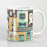 risa rodil Mugs featuring Empty Hearse by Risa Rodil