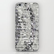 The Eternal Return Of The Unique Event (P/D3 Glitch Collage Studies) iPhone & iPod Skin