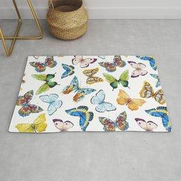 Butterfly Pattern 02 Rug